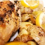 Sheet Pan Lemon Rosemary Chicken with Artichokes